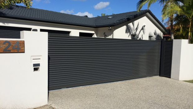 an automatic sliding gate install