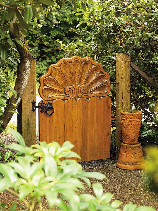 Carved Yellow Cedar Gate