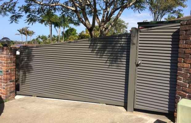 Custom Louvered Style Sliding and PA Gates, Gold Coast