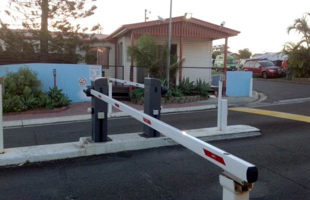 First Sun Holiday Park, Byron Bay - Boom Gate install