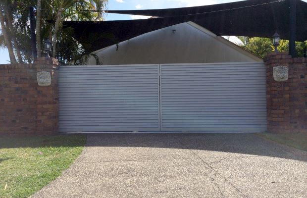 Precious pearl Bi-folding Louvered Style Sliding Gate, Gold Coast