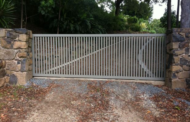 Sliding Gate with Vertical Slats, Gold Coast