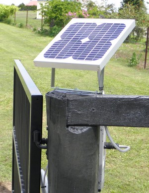 Solar Power Cell on top of Gate Post