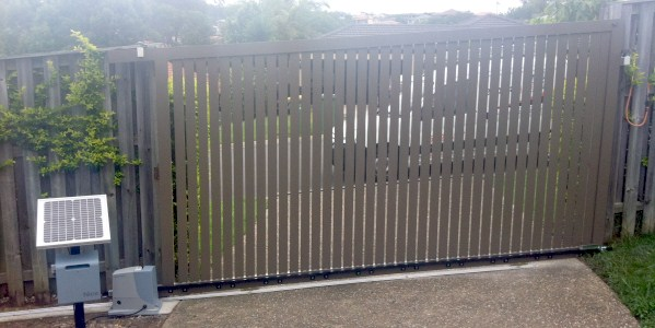 A Solar Power Sliding Gate installed by Alpha Gate Automation