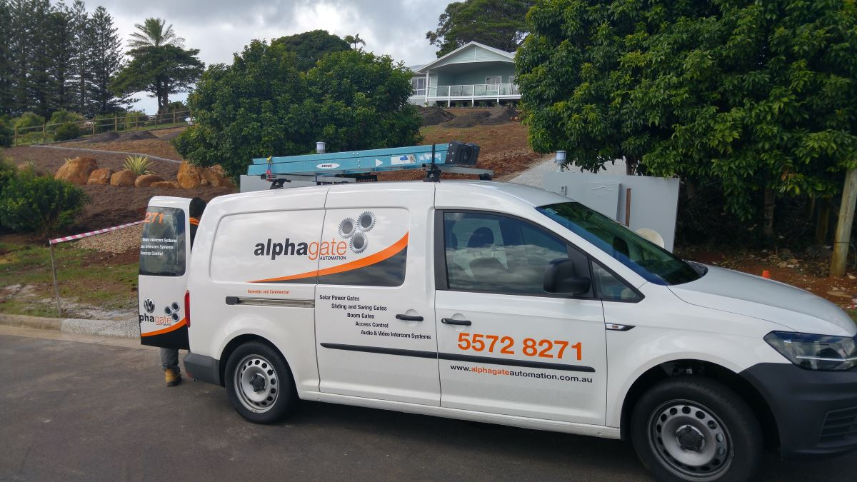 Alpha gate Automation van on site in Terranora