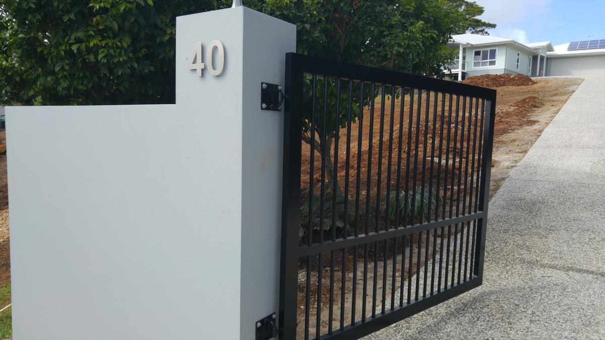 Automatic gate being installed, Terranora, NSW