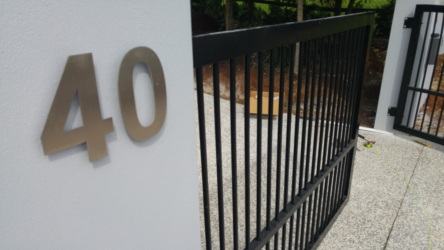 Terranora automatic swing gate installation