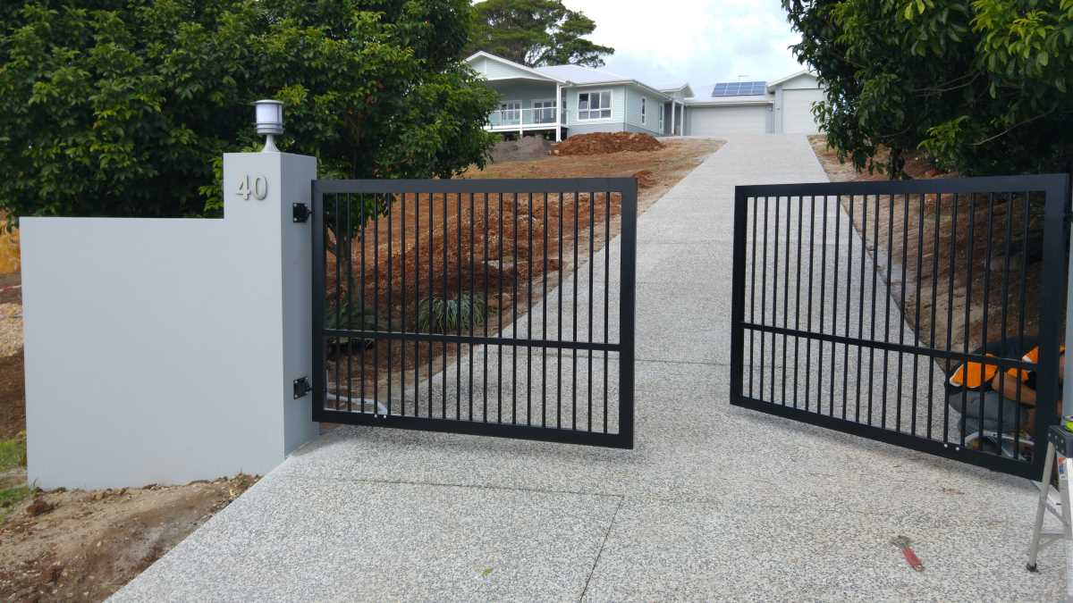 Automatic swing gates installed in Terranora